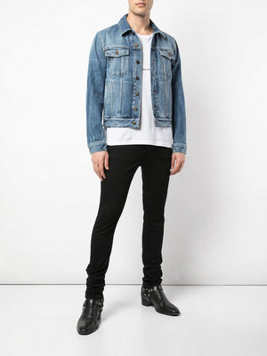 SAINT LAURENT MEN CLASSIC DENIM JACKET