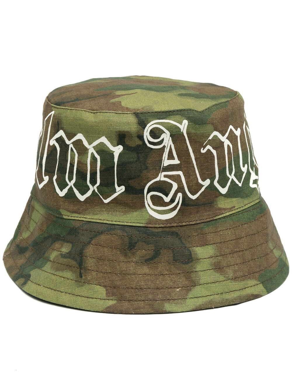 PALM ANGELS MILITARY LOGO BUCKET HAT