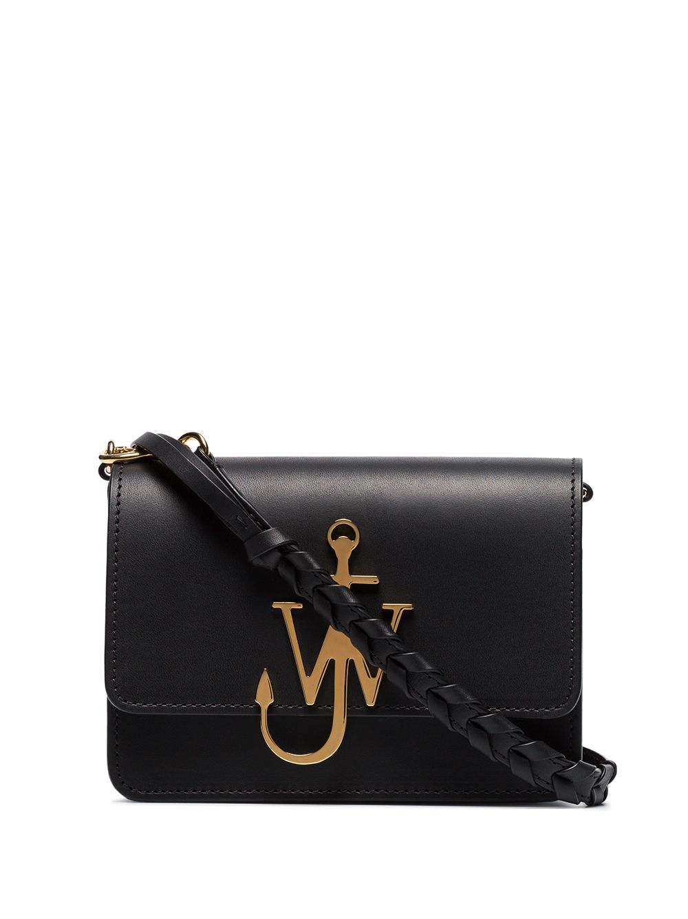 JW ANDERSON WOMEN ANCHOR LOGO BAG WITH BRAIDED STRAP
