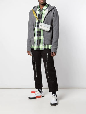 OFF-WHITE MEN ARROW BASIC LOG SLIM ZIP HOODIE