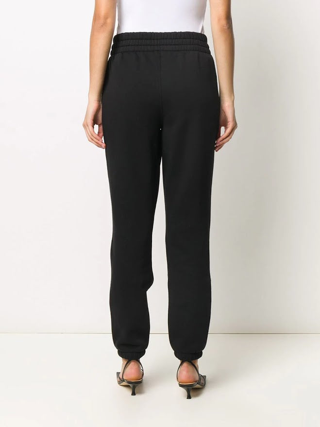T BY ALEXANDER WANG WOMEN FOUNDATION TERRY SLIM SWEATPANTS WITH PUFF PAINT LOGO