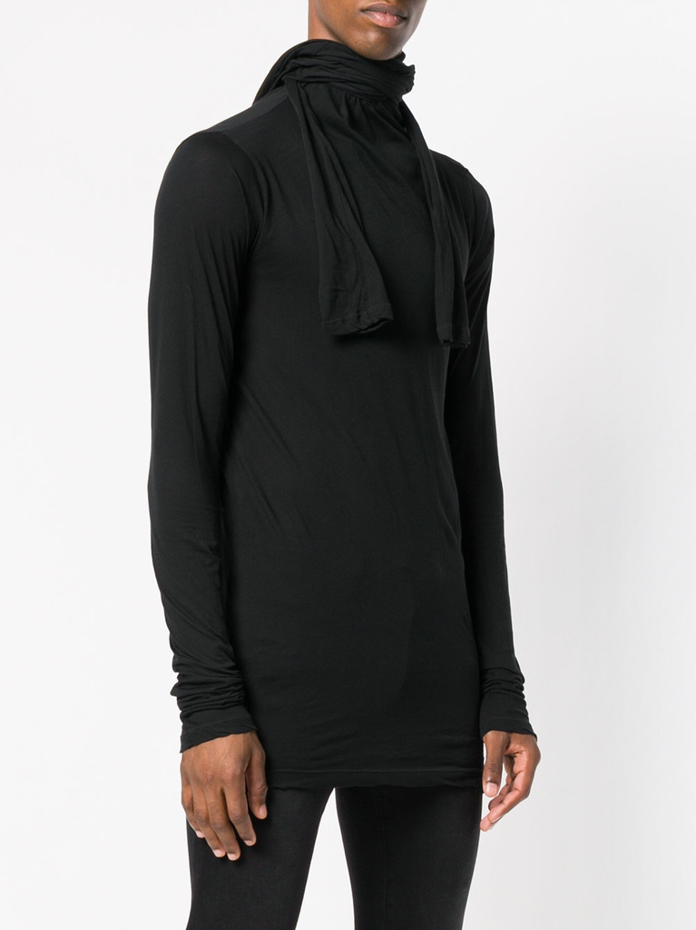UNRAVEL MEN JERSEY TEE HOOD LONG SLEEVE
