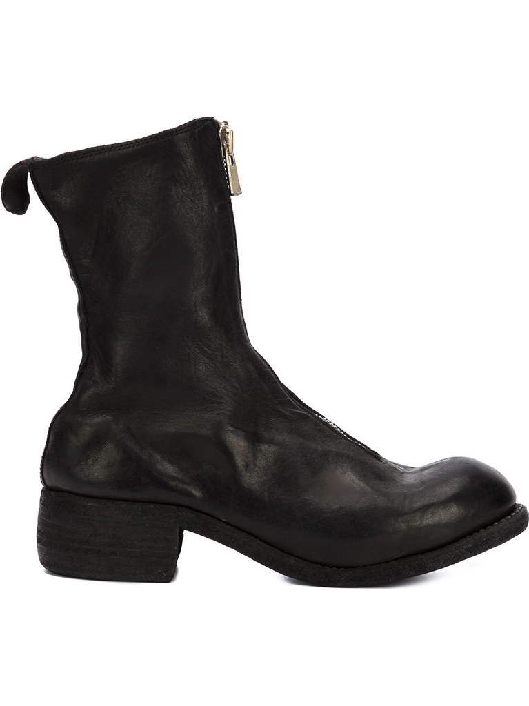 GUIDI WOMEN PL2 SOFT HORSE LEATHER FRONT ZIP BOOT BLKT