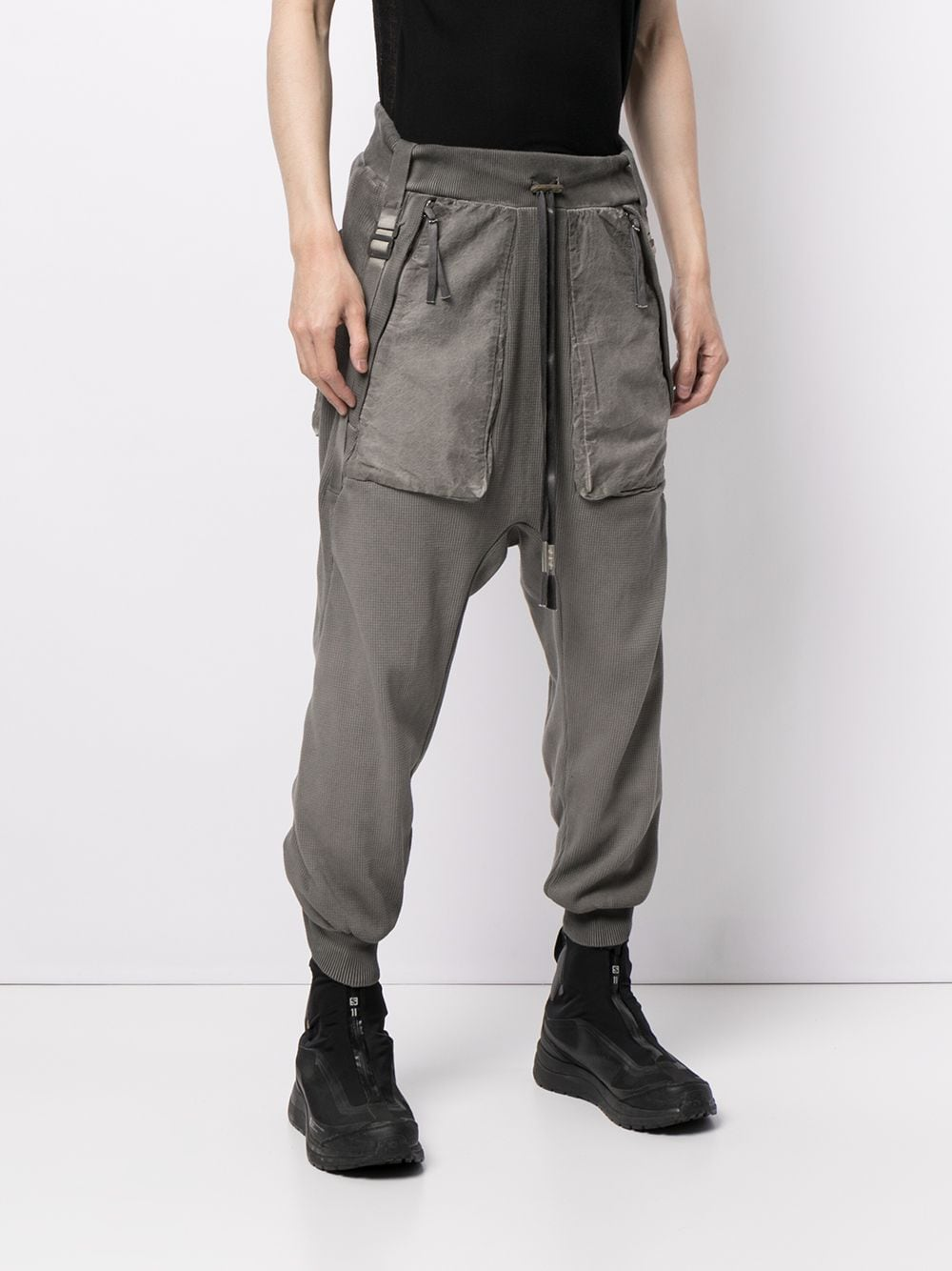 BORIS BIDJAN SABERI MEN P18.1 RESIN DYED PANTS