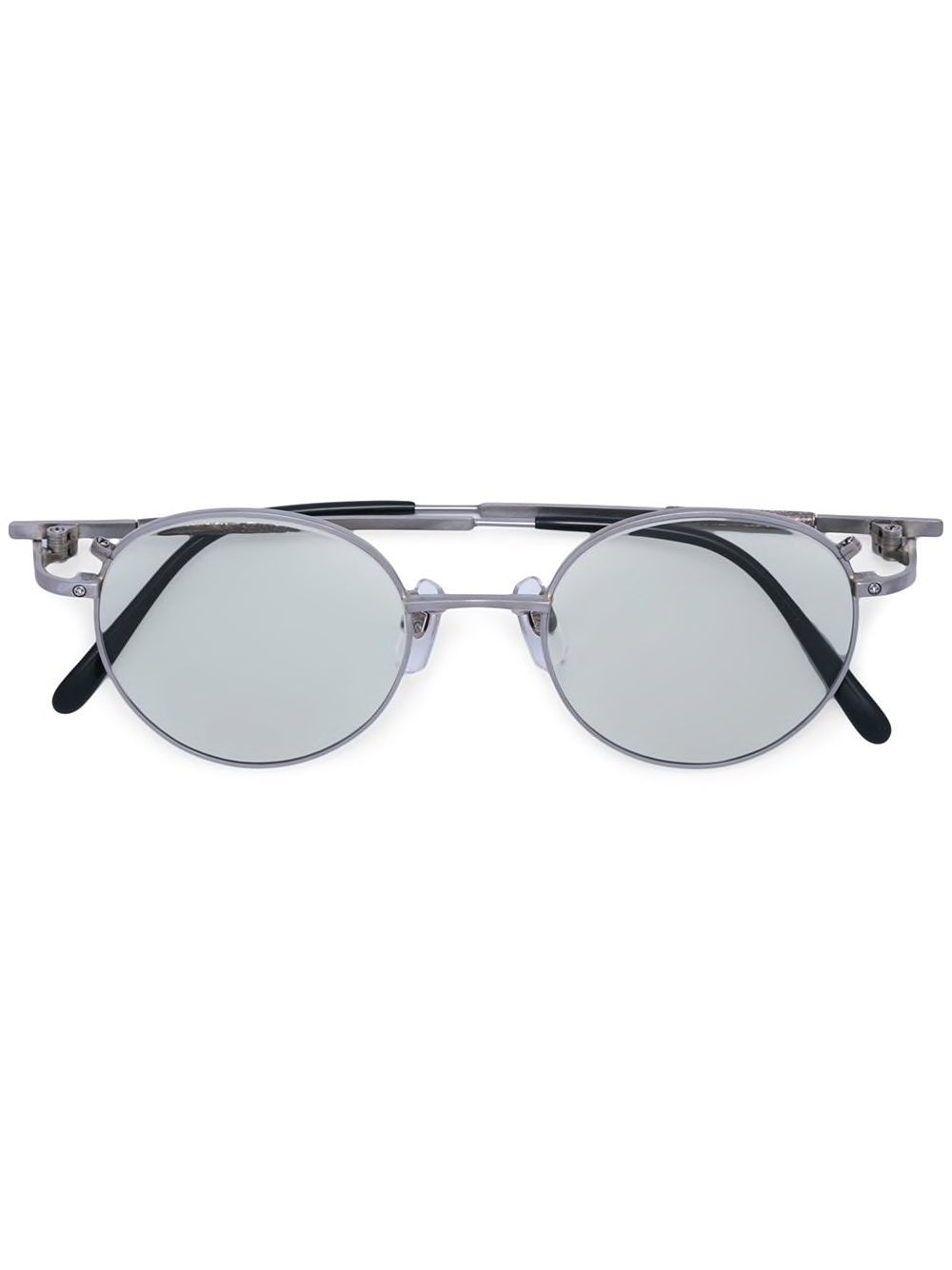 TAICHI MURAKAMI TITANIUM FRAME SUNGLASSES WITH LIGHT GREY LENS