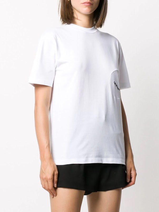 OFF-WHITE WOMEN EMBROIDERIED CASUAL TEE