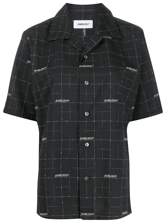 AMBUSH UNISEX LOGO OPEN COLLAR SHIRT