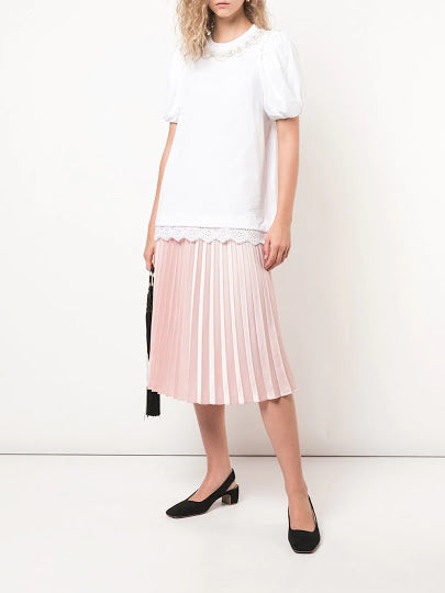 SIMONE ROCHA WOMEN T-SHIRT WITH PERAL PRINT