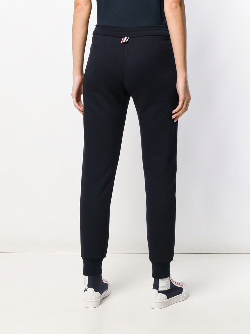 THOM BROWNE WOMEN SWEATPANTS IN CLASSIC LOOPBACK WITH RWB STRIPE