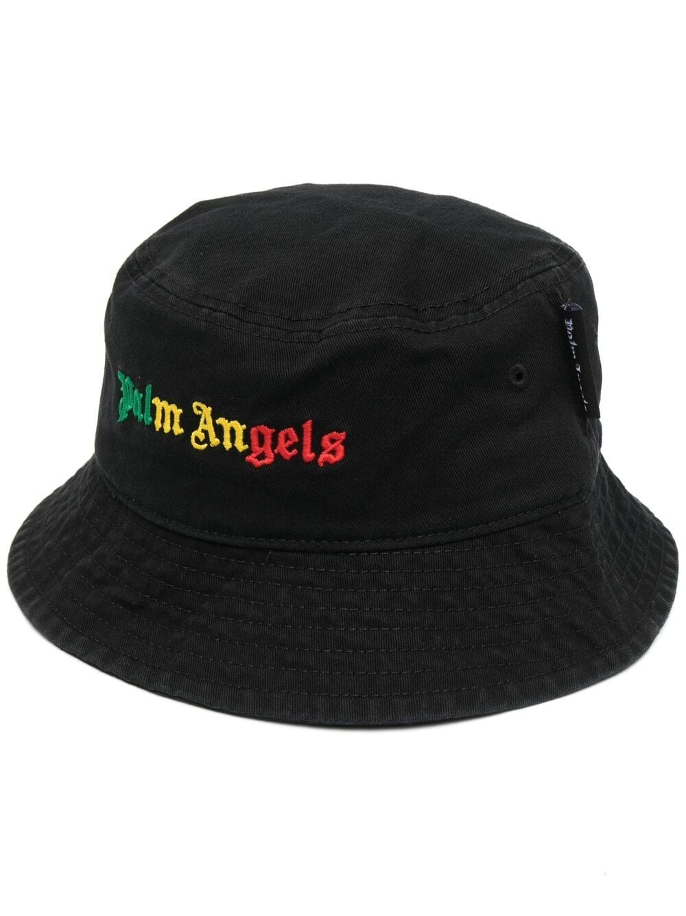 PALM ANGELS MEN MIAMI LOGO BUCKET HAT