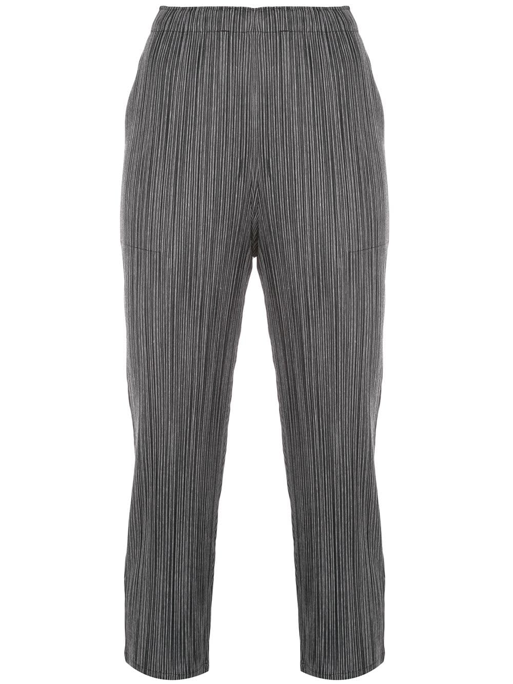 PLEATS PLEASE ISSEY MIYAKE WOMEN COTTON PINSTRIPE PANTS