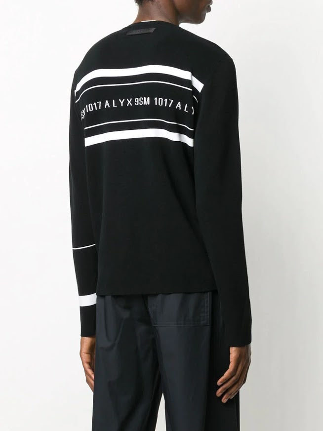 1017 ALYX 9SM MEN LOGO MULTI STRIPE SWEATER