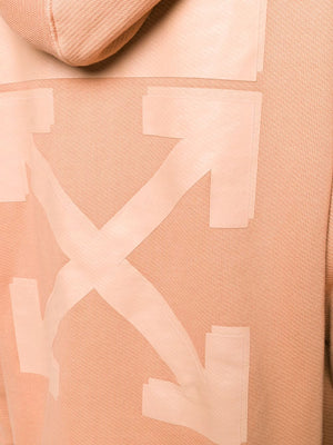 OFF WHITE WOMEN DIAG OFF WHITE HOODIE
