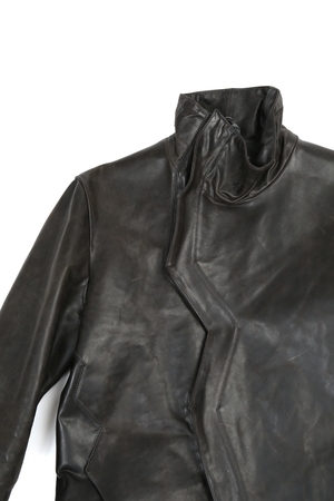 DEEPTI CLOSED CRASH SEAM LEATHER JACKET