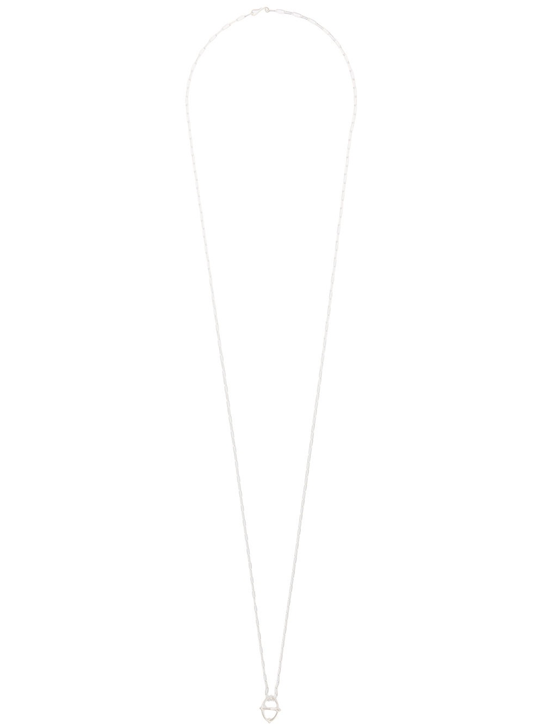 MA+ EXTRA SMALL + GLOBE NECKLACE WITH SILVER CHAIN