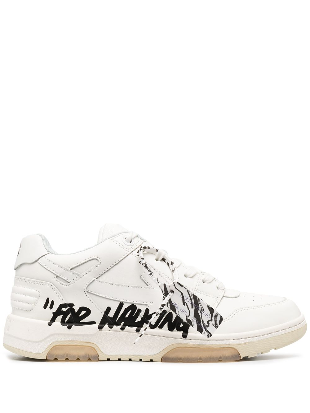 OFF-WHITE MEN OUT OF OFFICE CALF LEATHER SNEAKERS