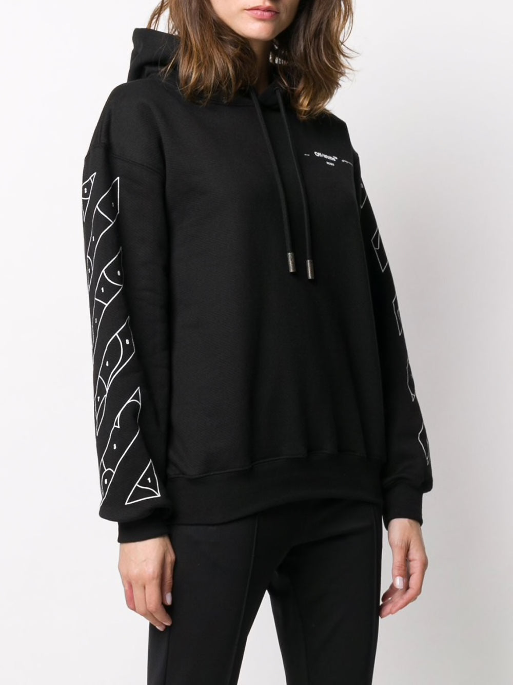 OFF-WHITE WOMEN PUZZLE ARROW OVERSIZE HOODIE
