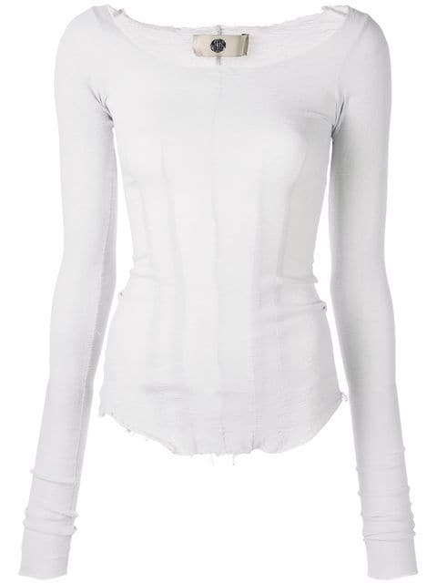MARC LE BIHAN WOMEN LONG SLEEVE STRETCH TOP