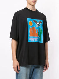 PALM ANGELS MEN NEW FOLK OVER TEE