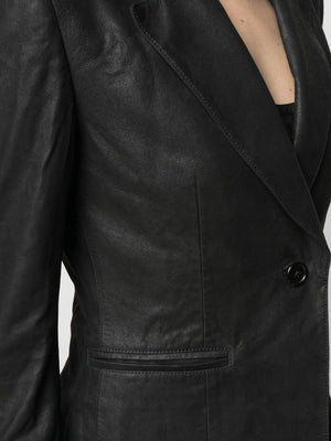 ANN DEMEULEMEESTER WOMEN LEATHER JACKET