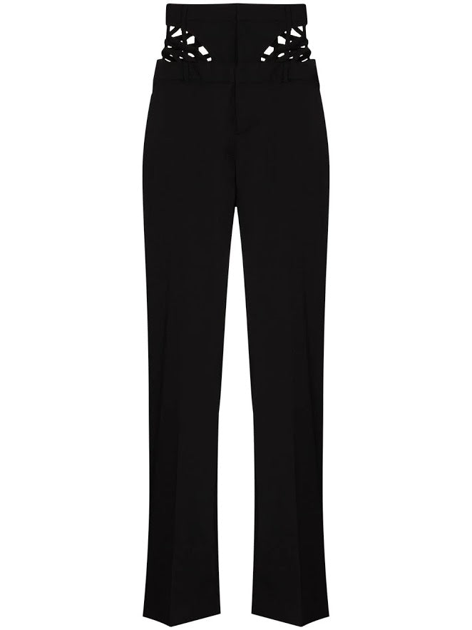 Y/PROJECT WOMEN WAIST STRAP TROUSERS