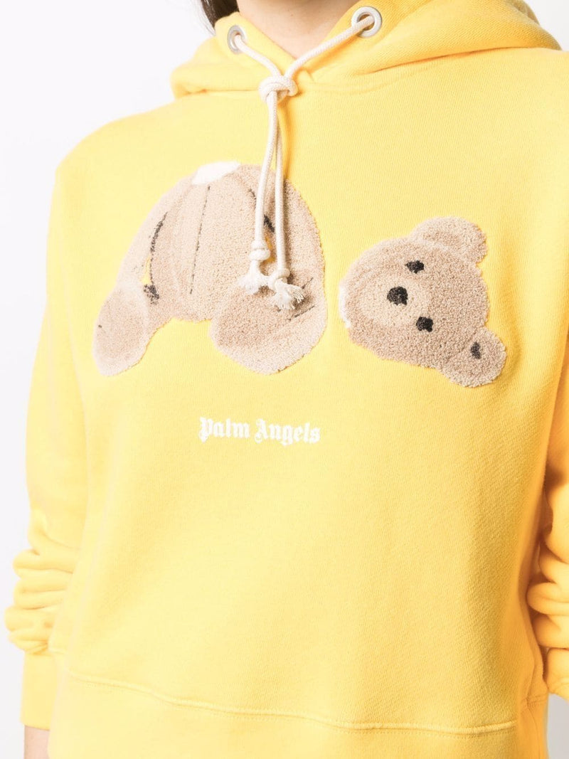 PALM ANGELS WOMEN BEAR FITTED HOODY