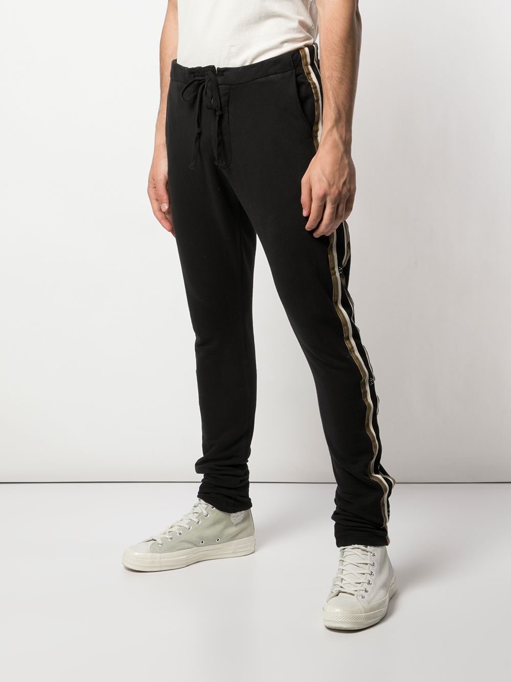 GREG LAUREN MEN BLACK ROYAL LONG PANTS