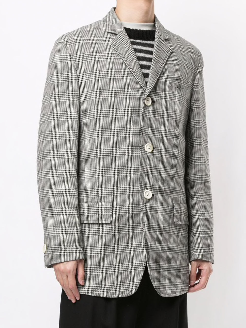 UNDERCOVER MEN HUNDTOOTH CHECK PRINCE OF WALES CHECK JACKET