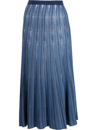 MAME KUROGOUCHI WOMEN KNIT SKIRT WITH SLIP