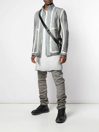 BORIS BIDJAN SABERI MEN TAPE SEAMED J1 KANGAROO LEATHER JACKET