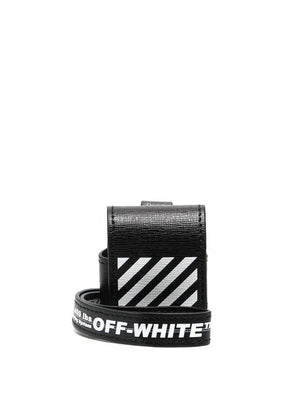 OFF-WHITE DIAG SAFFIANO AIRPODS CASE