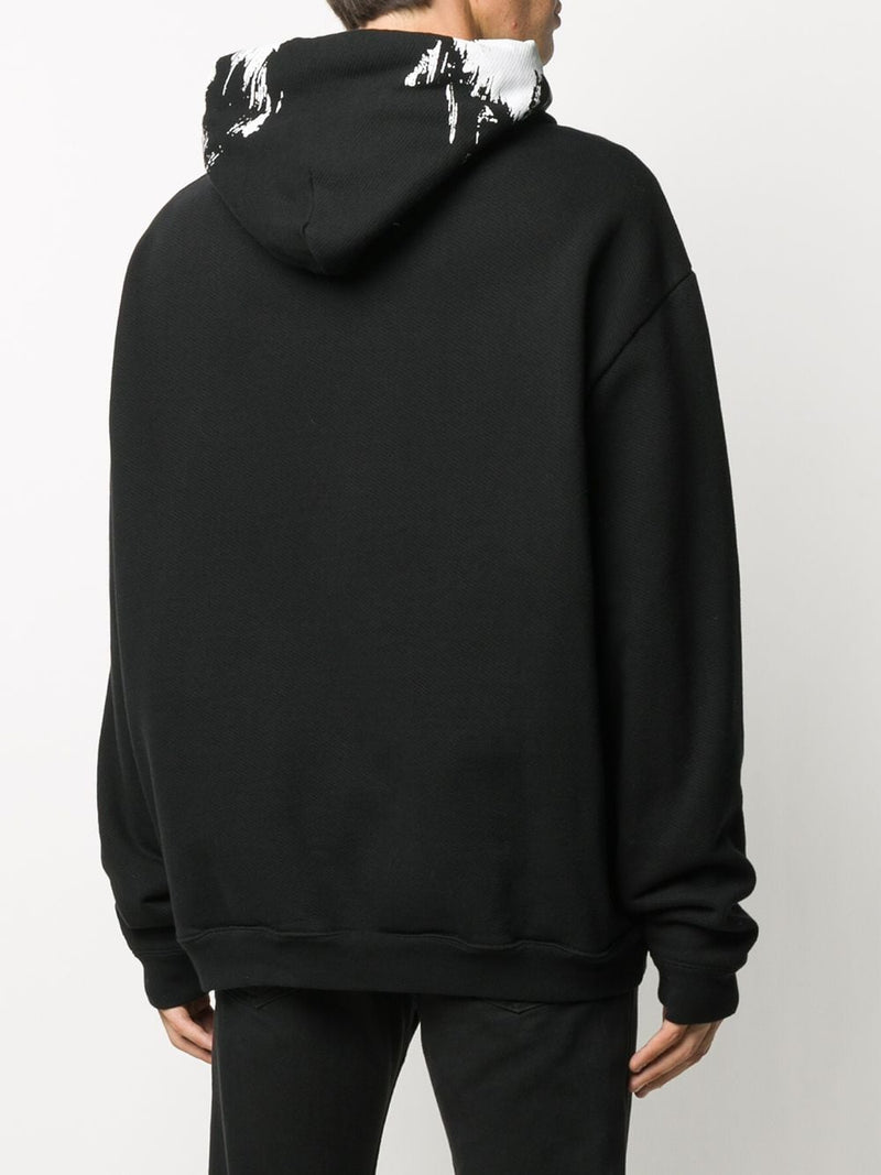 MAISON MARGIELA MEN PAINTED EFFECT HOODIE