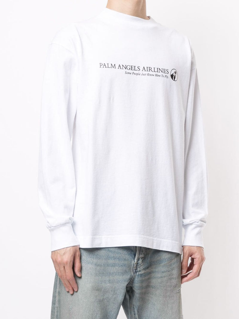 PALM ANGLES MEN PALM AIRLINES TEE L/S