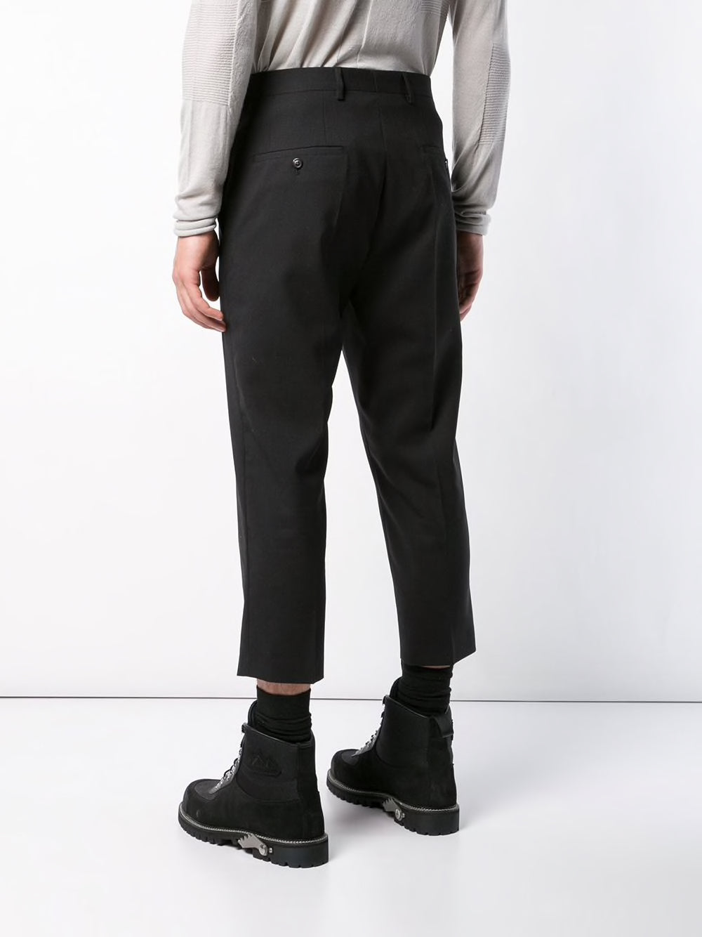 RICK OWENS MEN SLIM CROPPED ASTAIRES PANTS