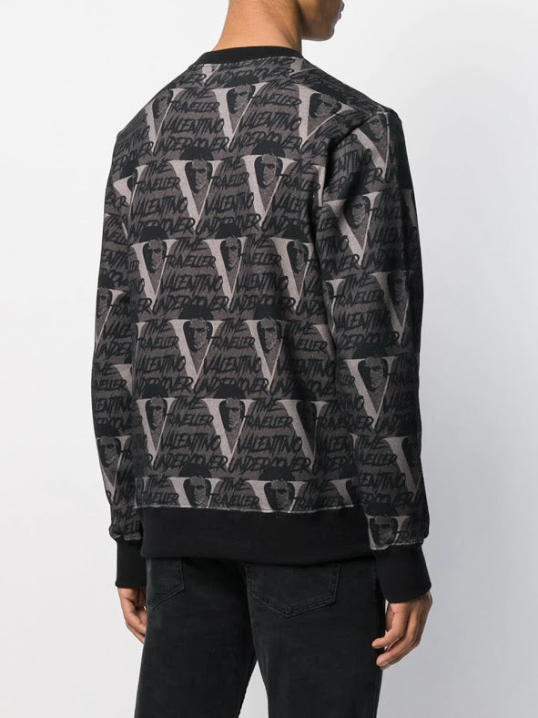 UNDERCOVER X VALENTINO MEN TIME TRAVELLER LOGO SWEAT SHIRT