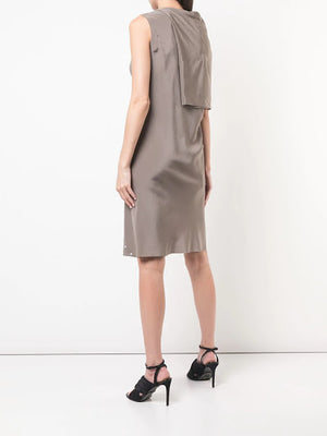 RICK OWENS WOMEN BIAS TOGA TUNIC DRESS