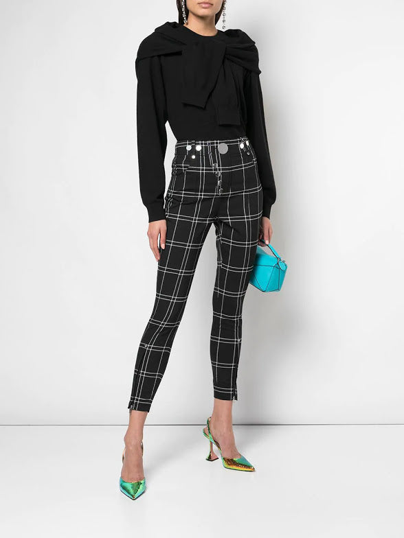 ALEXANDER WANG WOMEN HIGH WAISTED LEGGING WITHSNAP FRONT DETAIL