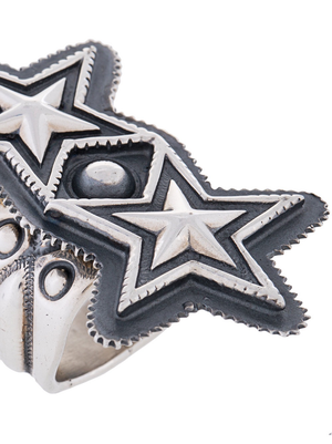 CODY SANDERSON DOUBLE SHERIFF STAR RING