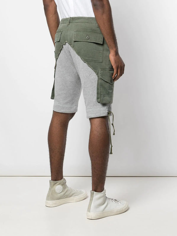 GREG LAUREN MEN ARMY BAKER CARGO SHORTS