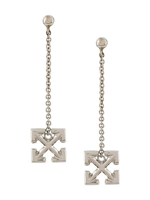 OFF WHITE PENDANT EARRINGS ARROW