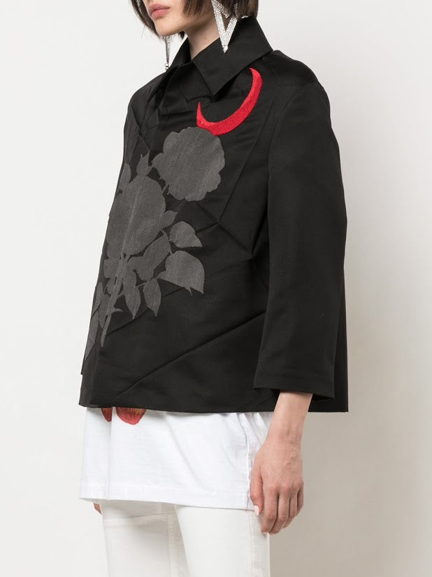 UNDERCOVER WOMEN ROSE AND MOON PATCH JACKET