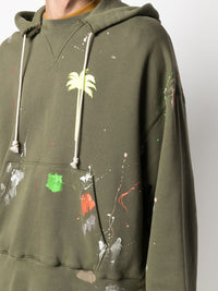 PALM ANGELS MEN PALM X PALM PAINTED RAW CUT HOODIE