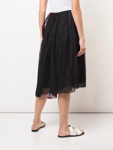 SIMONE ROCHA WOMEN ASYMMETRIC GATHERED SKIRT
