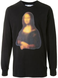 OFF-WHITE MEN BLURRED MONALISA L/S TEE