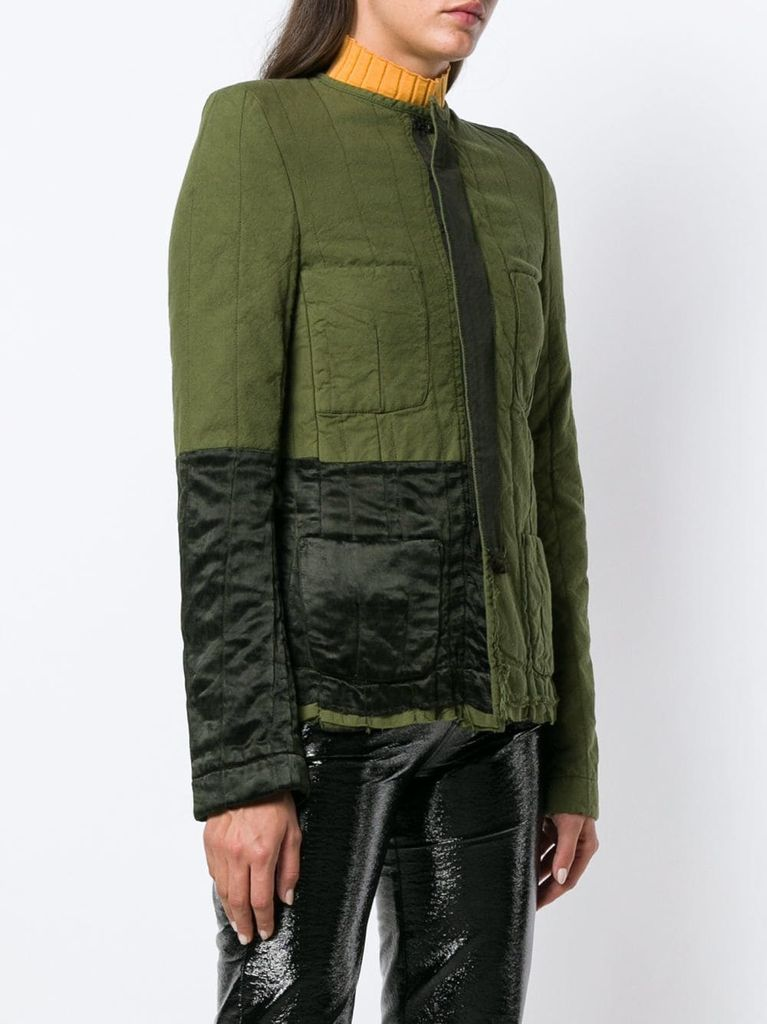 HAIDER ACKERMANN WOMEN QUILTED CONTRAST CRYSTALL+BAKER JACKET 184-5004-145-036