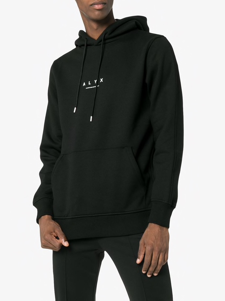 ALYX MEN A LOGO HOODED SWEATSHIRT