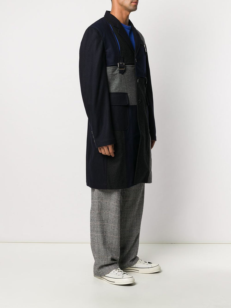 COMME DES GARCONS SHIRT MEN COAT WITH BUCKLE DETAILS