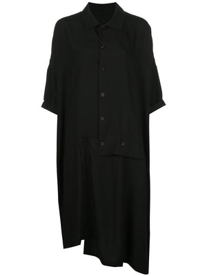 Y'S WOMEN ASYMMETRIC SHORT SLEEVE DRESS