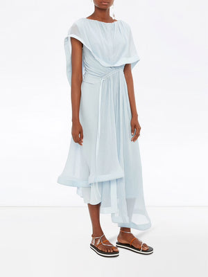 JW ANDERSON WOMEN DRAPED ASYMMETRIC DRESS