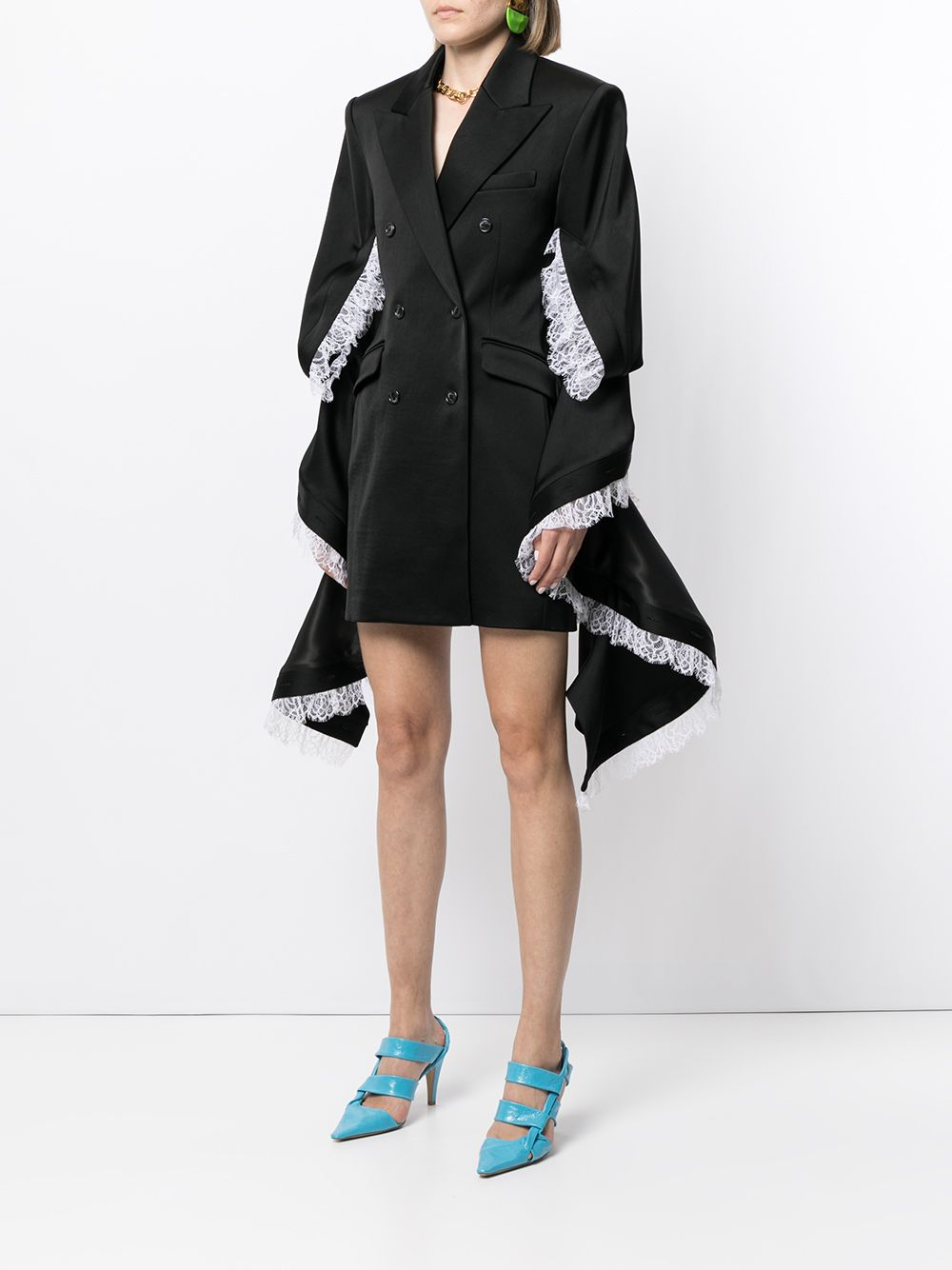 Y/PROJECT WOMEN RUFFLE SLEEVE BLAZER DRESS